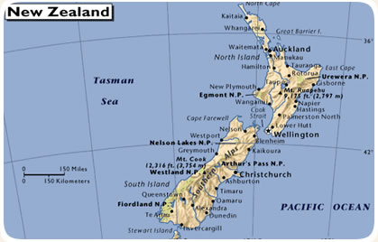 Cartina Nuova Zelanda.Viaggi In Nuova Zelanda Informazioni Meraviglia Viaggi